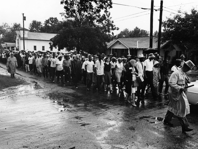 Bogalusa Protest - 1965 Stretched Canvas Print