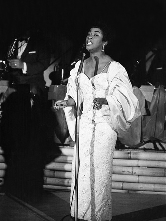 Sarah Vaughan - 1960 Stretched Canvas Print