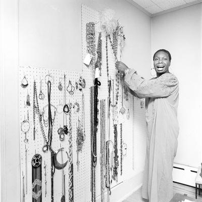 Nina Simone - 1971 Stretched Canvas Print