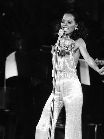 Diana Ross - 1976 Stretched Canvas Print