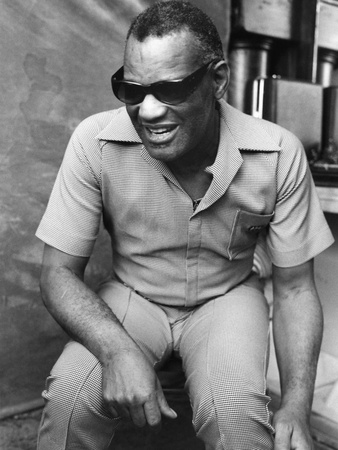 Ray Charles - 1978 Stretched Canvas Print