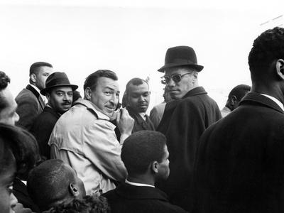 Malcolm X, Adam Clayton Powell Stretched Canvas Print