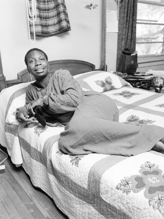 Nina Simone, - 1959 Stretched Canvas Print
