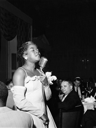Sarah Vaughan Stretched Canvas Print