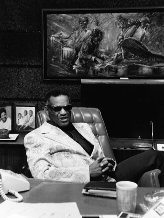 Ray Charles - 1974 Stretched Canvas Print
