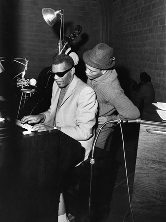 Ray Charles, Quincy Jones - 1961 Stretched Canvas Print
