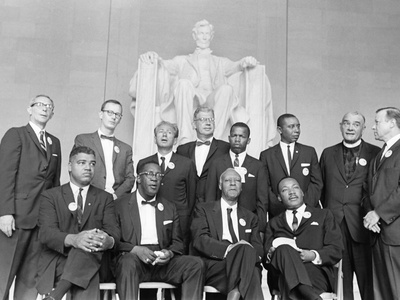 Roy Wilkins, Dr. Martin Luther King Jr., and A Philip Randolph - 1957 Stretched Canvas Print