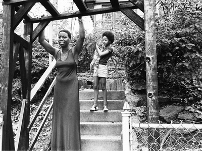 Nina Simone and daughter - 1971 Stretched Canvas Print