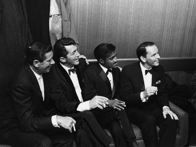 Sammy Davis Jr., Rat Pack - 1960 Stretched Canvas Print