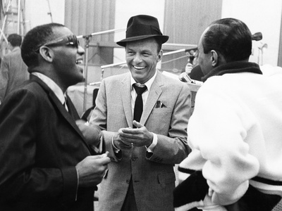 Ray Charles, Frank Sinatra Stretched Canvas Print