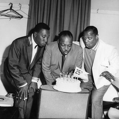 Count Basie, Joe Williams and George Kirby - 1960 Stretched Canvas Print