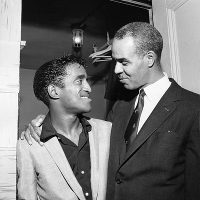 Sammy Davis Jr.,  Roy Wilkins,  May - 1958 Stretched Canvas Print