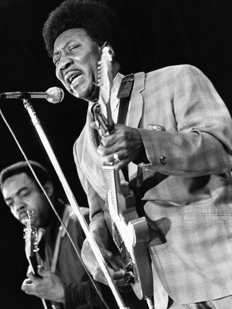Muddy Waters, - 1970 Stretched Canvas Print