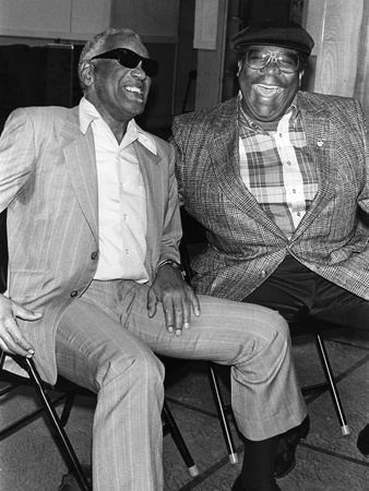 Ray Charles, B.B. King - 1990 Stretched Canvas Print