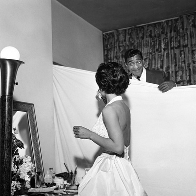 Eartha Kitt and Sammy Davis Jr. - 1954 Stretched Canvas Print