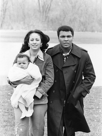 Muhammad Ali and Family - 1977 Stretched Canvas Print
