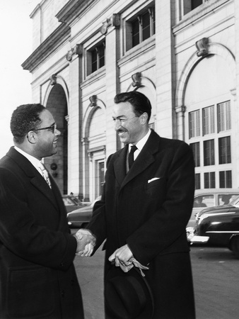 Adam Clayton Powell Jr. and Charles Diggs Jr. Stretched Canvas Print