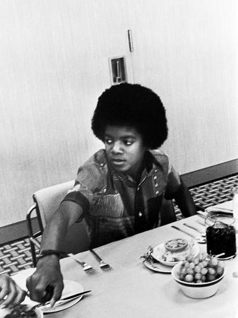Michael Jackson - 1972 Stretched Canvas Print