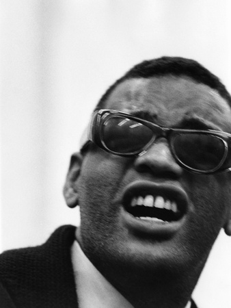 Ray Charles - 1963 Stretched Canvas Print