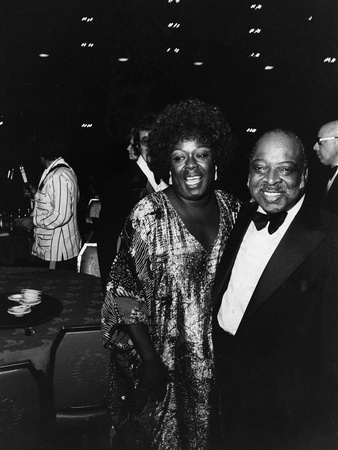 Count Basie Celebrating Birthday - 1984 Stretched Canvas Print