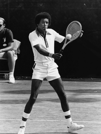 Arthur Ashe - 1976 Stretched Canvas Print