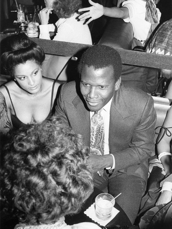 Sidney Poitier - 1977 Stretched Canvas Print