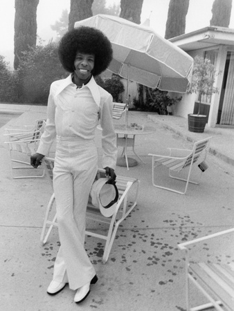 Sly Stone - 1974 Stretched Canvas Print