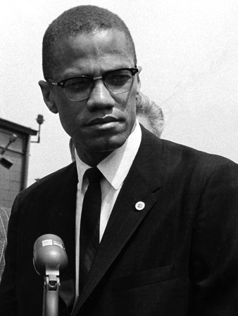Malcolm X Stretched Canvas Print