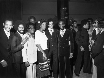 Commodores and Natalie Cole - 1977 Stretched Canvas Print