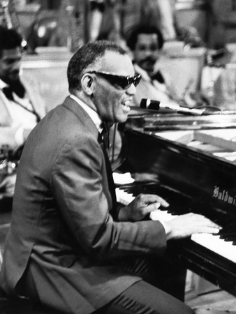 Ray Charles - 1979 Stretched Canvas Print
