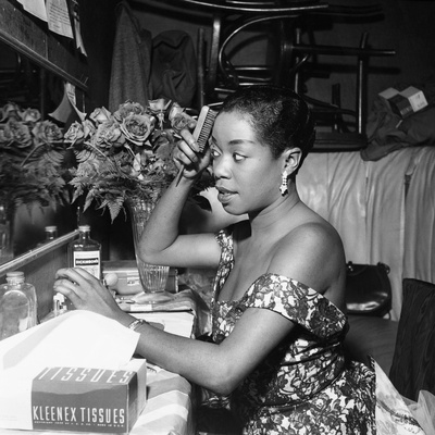 Sarah Vaughan - 1954 Stretched Canvas Print