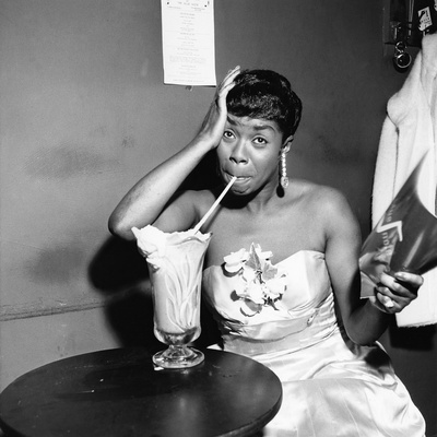 Sarah Vaughan - 1955 Stretched Canvas Print