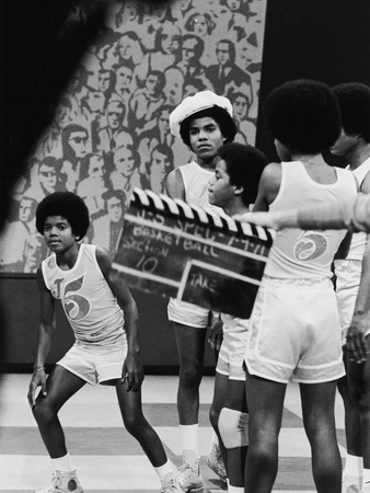Michael Jackson; Jackson 5 -1971 Stretched Canvas Print