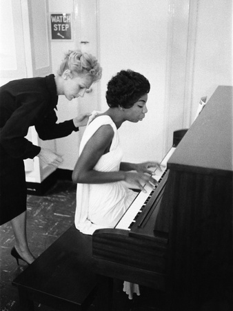 Nina Simone - 1959 Stretched Canvas Print