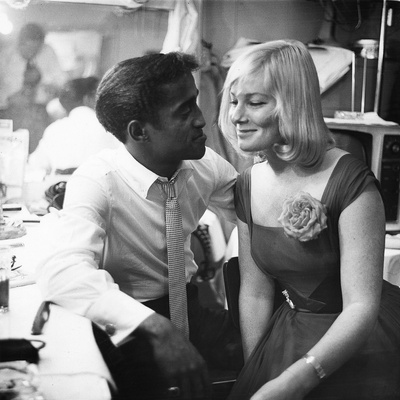 Sammy Davis Jr., May Britt - 1960 Stretched Canvas Print
