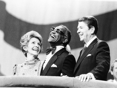 Ray Charles, Ronald Reagan, Nancy Reagan - 1984 Stretched Canvas Print