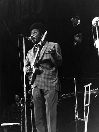 Muddy Waters-1970 Stretched Canvas Print