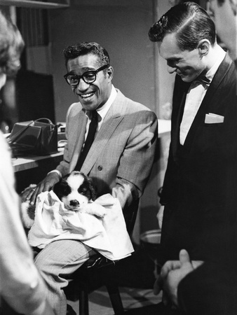 Sammy Davis Jr., Hugh Hefner - 1960 Stretched Canvas Print