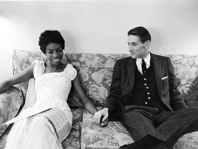 Nina Simone and Don Ross - 1959 Stretched Canvas Print