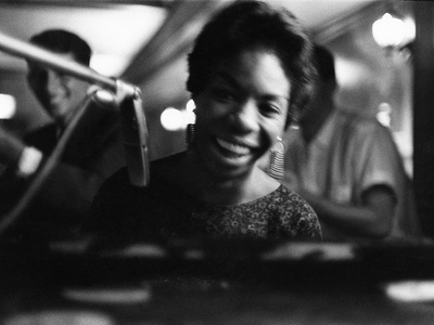 Nina Simone - 1959 Stretched Canvas Print