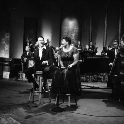 Ella Fitzgerald and Frank Sinatra - 1958 Stretched Canvas Print