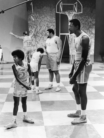 Michael Jackson; Bill Russell - 1971 Stretched Canvas Print