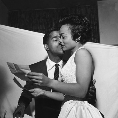 Sammy Davis Jr., Eartha Kitt - 1954 Stretched Canvas Print