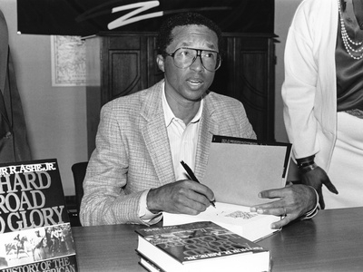 Arthur Ashe - 1989 Stretched Canvas Print