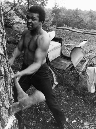 Muhammad Ali - 1974 Stretched Canvas Print