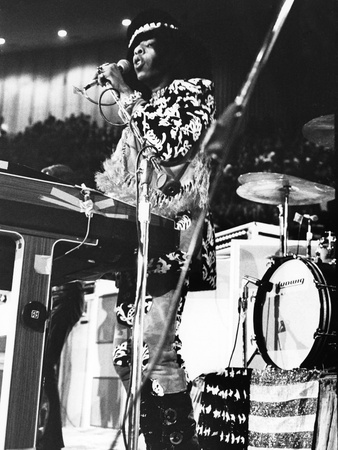 Sly Stone - 1971 Stretched Canvas Print