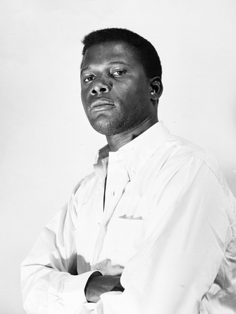 Sidney Poitier - 1958 Stretched Canvas Print