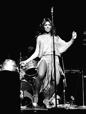 Tina Turner - 1974 Stretched Canvas Print
