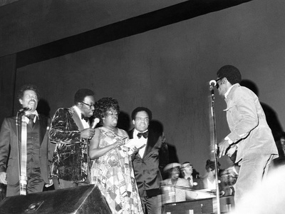 Sarah Vaughan and others performing at Quincy Jones Tribute - 1975 Stretched Canvas Print