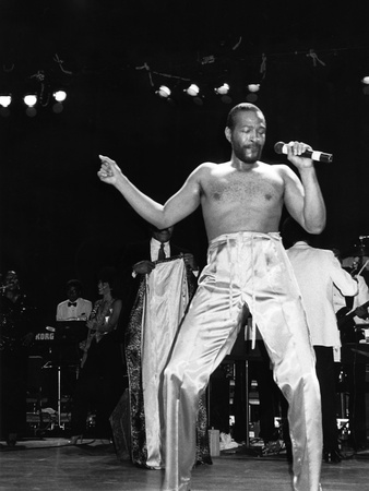 Marvin Gaye - 1983 Stretched Canvas Print